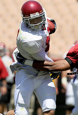 USC freshman running back Dillon Baxter is already turning heads. (Getty Images)