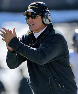 Gary Pinkel has helped improve Missouri's stock by building the football program up. (Getty Images)