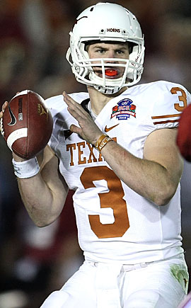 Garrett Gilbert gave Texas a glimpse of its future in the BCS title game. (Getty Images)
