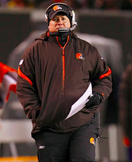 Eric Mangini is in an unenviable position in Cleveland. (Getty Images)