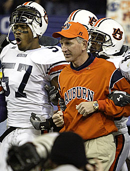 Tommy Tuberville and Auburn beat Tennessee in the 2004 SEC Championship Game. (US Presswire)