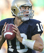 Brady Quinn brings game and glamour back to Notre Dame's QB position. (Getty Images)