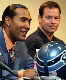 T.J. Houshmandzadeh and Jim Mora enter the honeymoon phase. (AP)