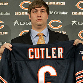 The Cutler blockbuster opens the draft-trade season in high style. (AP)