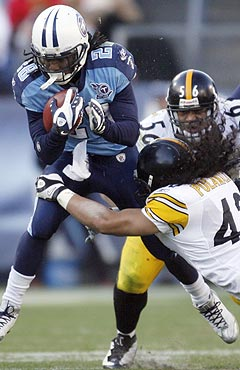 The Titans and Steelers will bruise each other in Week 1. (US Presswire)