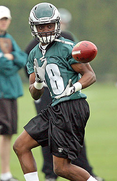 WR Jeremy Maclin is the deep threat Donovan McNabb wants. (Getty Images)