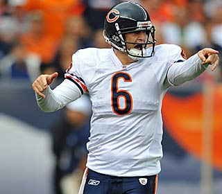 Jay Cutler completes 15 of 21 attempts for 144 yards and one touchdown in the win.  (US Presswire)