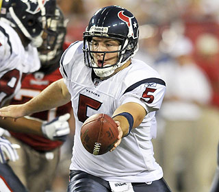 Rex Grossman finally gets some work in the preseason. He throws for 197 yards and two TDs. (US Presswire)