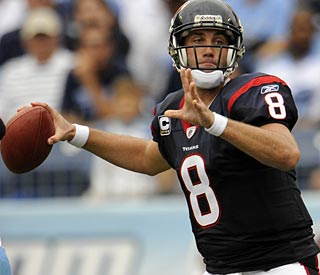 Matt Schaub helps keep the Texans from an 0-2 start with 357 yards passing, four TDs and no turnovers.