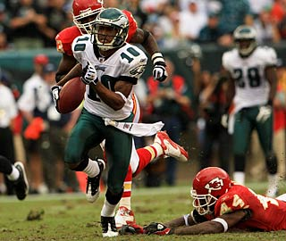 Big-play wideout DeSean Jackson has 149 receiving yards, including a 64-yard touchdown.