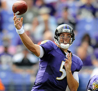 Joe Flacco has a field day against the Browns defense, throwing for a career-high 342 yards.