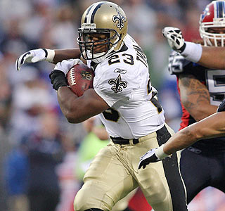Pierre Thomas is the star, rushing for 126 yards and scoring on runs of 34 and 19 yards.