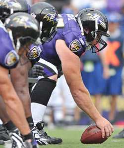 The Ravens found a perfect fit for their young O-line -- Matt Birk. (Getty Images)