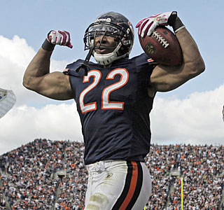 Forte means strong -- the Bears' Matt rushes for 121 yards and one of Chicago's three ground scores