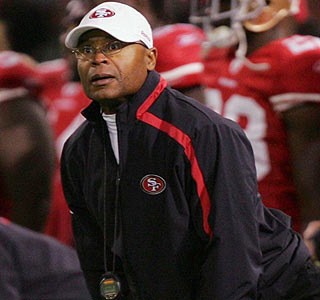Mike Singletary on beating his former squad: 'They're just another team on the schedule.'  (Getty Images)
