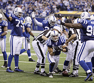 The Colts defense makes a monumental stop on fourth down to give the offense the ball in the final two minutes.