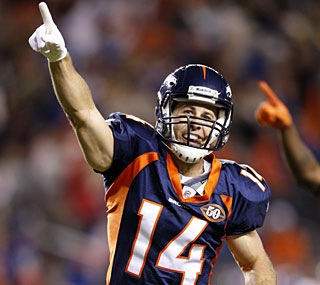 Denver's Brandon Stokley seals the game with a 17-yard touchdown catch in the fourth quarter.