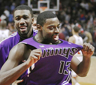 Tyreke Evans (23 points) is jubilant after the Kings stun the Bulls with a game-ending 58-19 run.  (AP)