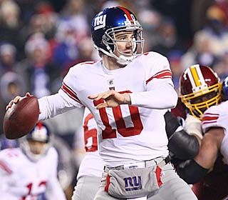 Eli Manning doesn't miss a beat, completing 19 of 26 attempts for 268 yards and three TDs.