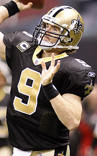 Brees is 7-2 at the Superdome this season and 2-0 in his playoff history. (US Presswire)