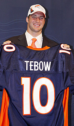 The success of the Broncos' draft hinges on what Tim Tebow gives them. (US Presswire)