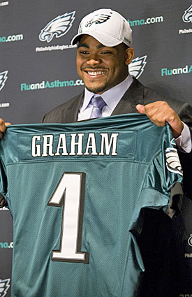 First-round pick Brandon Graham leads the 'reloading' project for Philly's D. (AP)