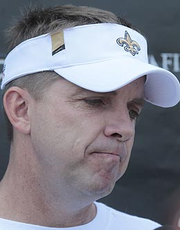 Regardless of his level of involvement in the alleged scandal, Sean Payton has a lot of damage control to do this summer. (AP)