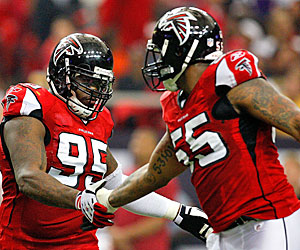 Jonathan Babineaux has been outplaying linemate John Abraham in Atlanta. (Getty Images)