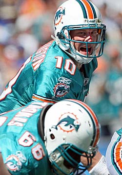Now backing up Chad Henne, Chad Pennington is still a huge plus for the Dolphins. (Getty Images)
