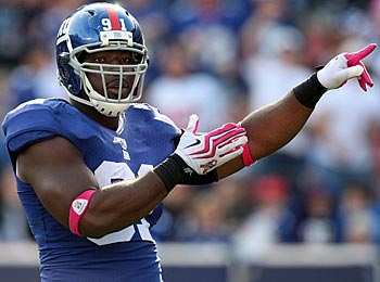 Two more regular-season games? Justin Tuck isn't thinking in that direction, thanks. (Getty Images)
