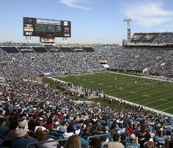 Tarped off sections have become commonplace in Jacksonville. (Getty Images)
