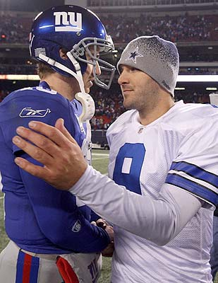 QBs like Eli Manning and Tony Romo set the NFC East apart. (Getty Images)