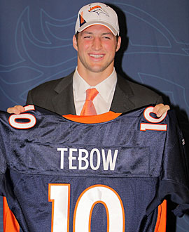 It will be interesting to see if Tim Tebow will prove his doubters wrong. (Getty Images)