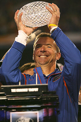 The crystal ball -- actually, two of them -- says Gainesville is much better for Urban Meyer than South Bend. (Getty Images)