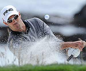 Gregory Havret handles Pebble's challenges despite never seeing the course before. (Getty Images)
