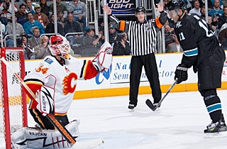 Miikka Kiprusoff stops 33 shots to earn his league-leading 27th win of the season. (Getty Images)