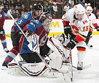 Peter Budaj keeps Michael Cammalleri off the board and gives slumping Colorado a lift.  (Getty Images)