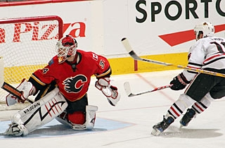 Andrew Ladd is denied this attempt, but makes up for it with his ninth goal this season. (Getty Images)