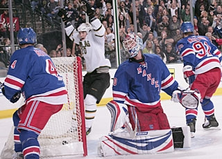 The Rangers have no answers and Steve Valiquette is peppered for all 10 goals. (Getty Images)