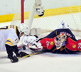 Tomas Vokoun stops 41 shots to collect his sixth shutout of the season.  (US Presswire)