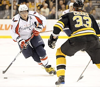 Alexander Ovechkin has seven goals in the last seven games and leads the league with 45.