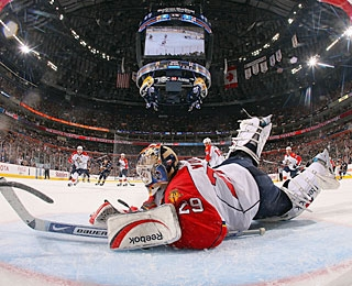 Vokoun and the Panthers squander a two-goal lead and maybe their playoff chances, too. (Getty Images)