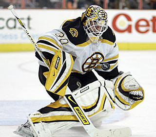 'I think it's a step in the right direction,' Tim Thomas says of the Bruins' third straight win.  (AP)