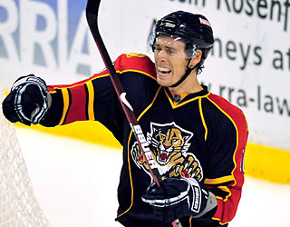 David Booth does his part for the Panthers by providing a power-play goal in the second period.  (AP)