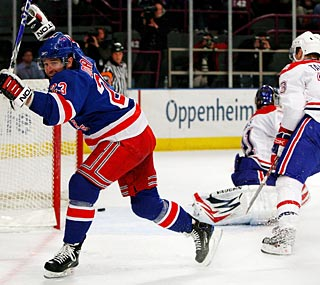 Chris Drury racks up two goals to help the Rangers notch an important win.  (Getty Images)