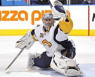 Ryan Miller allows a goal in the first period but stops everything else the rest of the way. (Getty Images)
