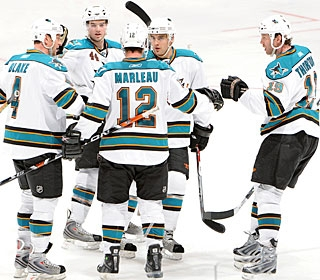 The Sharks earn the best regular-season record in the NHL for the first time in club history. (Getty Images)