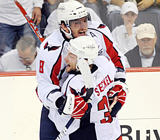 Alex Ovechkin and Dave Steckel snap a streak of seven overtime losses in a row by the Capitals.