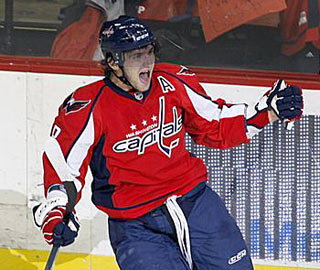 Alexander Ovechkin has scored two goals in four of the eight games and leads the NHL with nine goals. (AP)