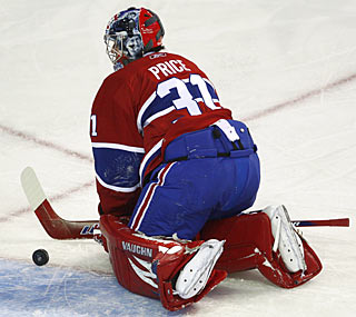 The Hurricanes struggle in the shootout against Carey Price, who stops all six shot attempts.  (AP)